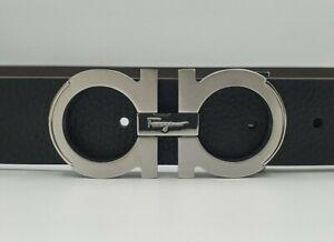 Salvatore Ferragamo Gancini belt with silver tone buckle