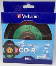 25 VERBATIM 700MB 52X CD-R Digital Vinyl 80Min Media Disc NEW