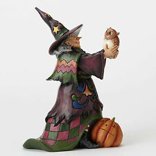 4053862 Cute Witch & Owl Halloween Jim Shore Figurine  Decoration Scary
