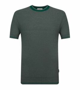 Ermenegildo ZZEGNA Z ZEGNA Knitted Cotton Stretch Fit T-Shirt Top RRP: £315.00
