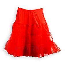 Ladies Vintage 50's Underskirt Petticoat Rockabilly Swing Tutu Skirt Red