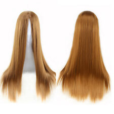 ONL NEW Womens Ladies Long  Straight Wig Fancy Dress Cosplay Wigs Party Costume