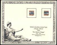 1992 World Columbian Stamp Expo, Chicago SC132 souvenir card SCCS: B-156