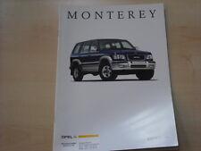 52790) Opel Monterey Prospekt 04/1998