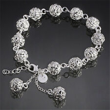 FASHION SHINY BLING JEWELRY SOLID 925STERLING SILVER  PENDANT BRACELET / BANGLE