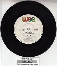 "INXS  Kiss The Dirt (Falling Down The Mountain)  7"" 45 record + juke box strip"