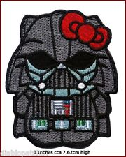 Star Wars Hello Kitty Darth Vader Morale Funny Applique 3 inch iron on  Patch