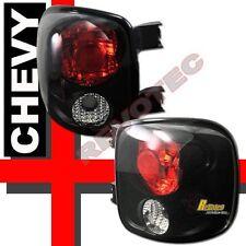 99-04 Chevy Silverado GMC Sierra Stepside Pickup Tail Lights Black 1 Pair