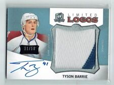 12-13 UD The Cup Limited Logos  Tyson Barrie  /50  Auto  Patch