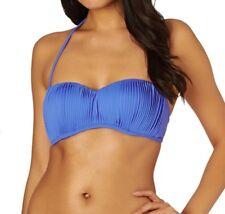 Rip Curl Sun And Surf Bandeau Bikini Top Blue Size UK S rrp £39.99   SA172 SS 17