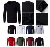 Men's Plain Blank Premium heavy Cotton T-shirt Basic Tee Long Sleeve New AU