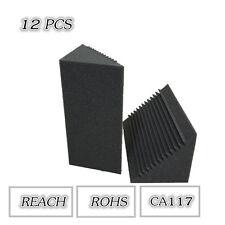 12PCS Corner Bass Trap Acoustic Studio Foam in Black Color