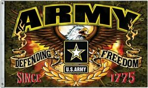 Army Defending Freedom 3x5FT Flag US United States Military Man Cave Veteran