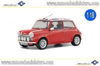 Mini Cooper Sport Red & Flag 1997 SOLIDO - SO 1800604 - Echelle 1/18 NEWS