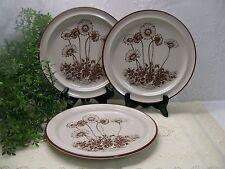 "Set of 3 Noritake DESERT FLOWERS 8341 Salad 8-1/4"" Luncheon Plates Lunch"