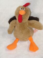 Russ Berrie Plush Turkey Drumstick Stuffed Animal Toy Thanksgiving Decor
