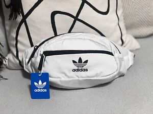 New Adidas Originals National Waist Fanny Pack in White/Black