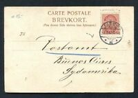 DENMARK to ARGENTINA USED Postcard 1914
