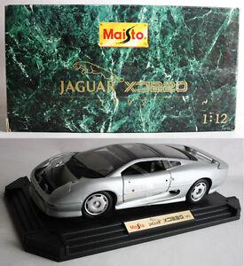 RARE VINTAGE 1992 MAISTO JAGUAR XJ220 SILVER 1:12 DIE CAST CAR UNUSED IN BOX !