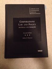Corporations Law & Policy - Jeffrey D. Bauman (7th ed.)