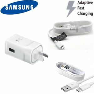 Genuine Samsung Fast charge wall travel charger or cable for Galaxy S6 S7 S8 S9
