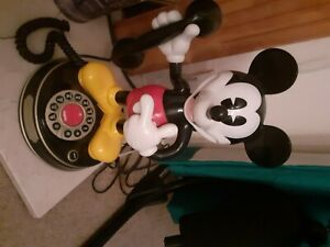 Mickey Mouse house phone barely used, red black white and yellow