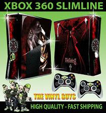 XBOX 360 SLIM ALUCARD AGGRESSIVE HELLSING 02 VAMPIRE STICKER SKIN & 2 X PAD SKIN