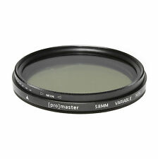 PROMASTER 58MM VARIABLE ND - DIGITAL HGX Filter 9322 NEW - MAKE AN OFFER