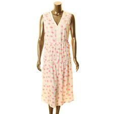 DKNY NEW Women's Lip-print Drawstring V Neck Dress TEDO
