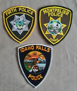 USA - 3 x Different Police Patches - Idaho #1