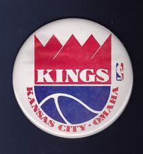 Kansas City Kings vintage 1970's basketball pinback button with easel back