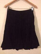 FCUK Jeans Ladies Cord Skirt Size 6 Black <R11497