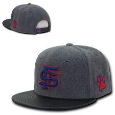 NCAA Fresno State University Bulldogs Melton Vinyl Snapback Baseball Caps Hats