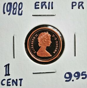 1988 Canada One Cent Proof Strike