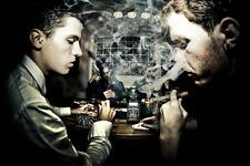 Old Photo.  Poker Faces - cigar