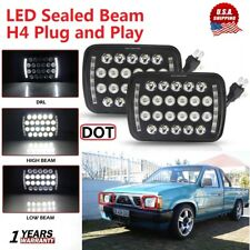 "2X 5X7'' 7x6"" LED Headlight Sealed Beam Replacement For Nissan Pickup Hardbody"