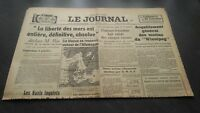 """ The Journal "" Edition Of 5 Heures Antique N°17326 Jeudi 28 Mars 1940 ABE"