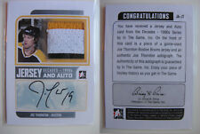 2012-13 ITG Decades JA-JT Joe Thornton 1/2 jersey auto silver Boston Bruins