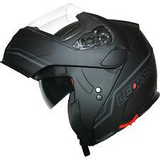 Leopard Leo-838 DVS Modular Flip up Front Motorbike Motorcycle Helmet Sun Visor Black M