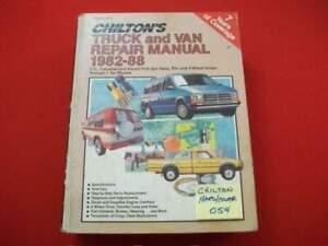 CHILTON'S US, CANADIAN & IMPORT TRUCK, PICKUP & VAN REPAIR MANUAL 4WD 1982-1988