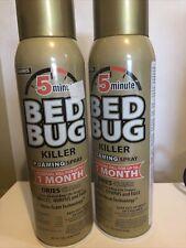 2-16oz Harris 5-Minute Bed Bug Killer Foaming Aerosol Spray, 16oz