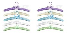 Wooden Satin Coat Clothes Suit Garment Cushion Padded Hangers 10Pcs