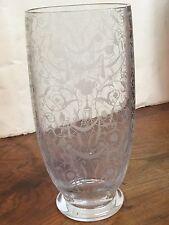 Vase En Cristal Gravé De Baccarat Décor Michel Ange De Style Neo-renaissance