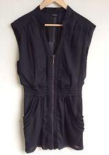 GUESS Little Black Dress Size 9 Zippered Shift Sleeveles V- Neck Summer Party