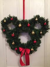 Disney Mickey Minnie Mouse Ears Icon Inspired Christmas Wreath Bauble Decoration