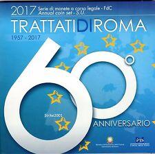NEW !!! Euro ITALIA 2017 Folder Ufficiale 10 monete FDC 60° Trattati di Roma !!!