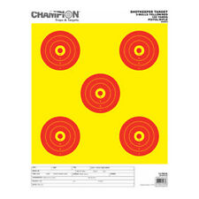 Champion Shop keeper 5 Bulls Eye Target Bright Large Yellow/Red 12/Pack 45563