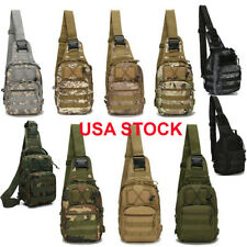 Mens Backpack Waterproof Tactical Sling Chest Pack Shoulder Bag Outdoor Hiking