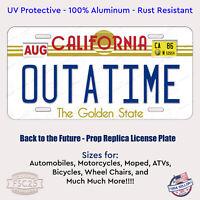 Back to the Future Movie License Plate OUTATIME Delorean Prop Replica Auto ATV