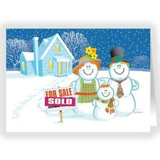 Snowman Family Real Estate Holiday Card 18 cards & envelopes-50031